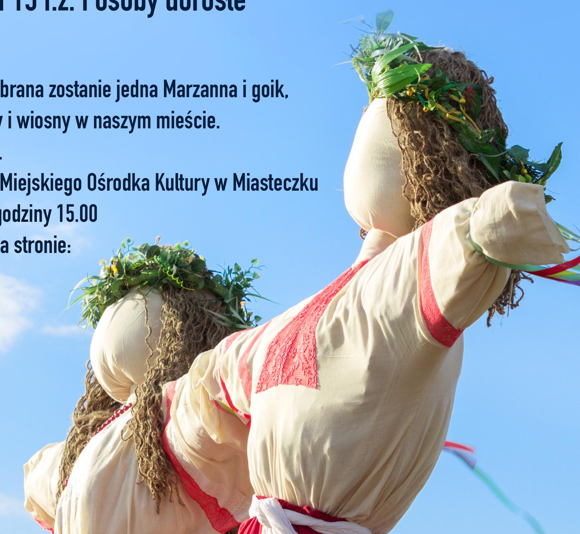 """Regulamin i metryczka konkursu """"Żegnaj Zimo"""""""