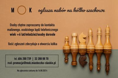 grafika do wpisu: Spotkanie organizacyjne kółka szachowego