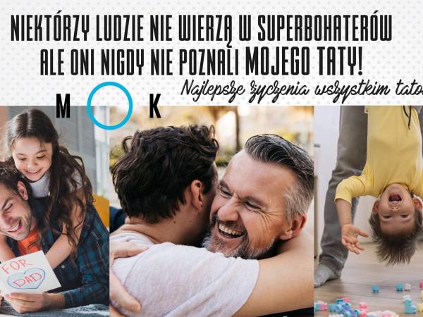 Najlepsze życzenia wszystkim tatom!