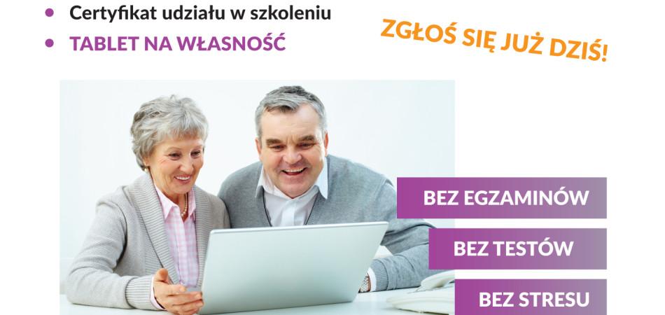 """grafika dla wpisu: Szkolenia w ramach projektu """"Śląska Akademia Senior"""""""